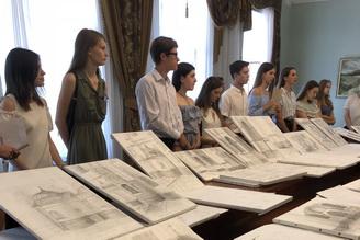 Студенти КНУБА представили свої роботи у НЗ «Софія Київська»